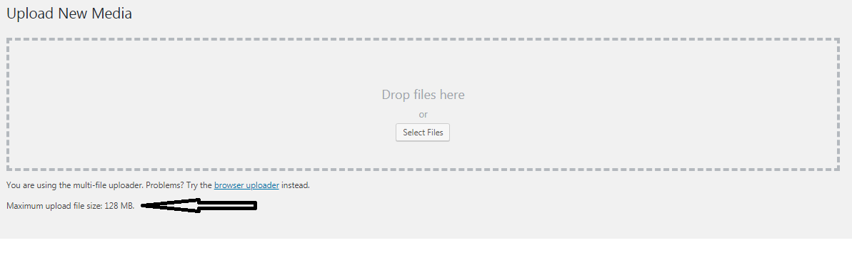 increase your maximum file upload file limit on a wordpress site