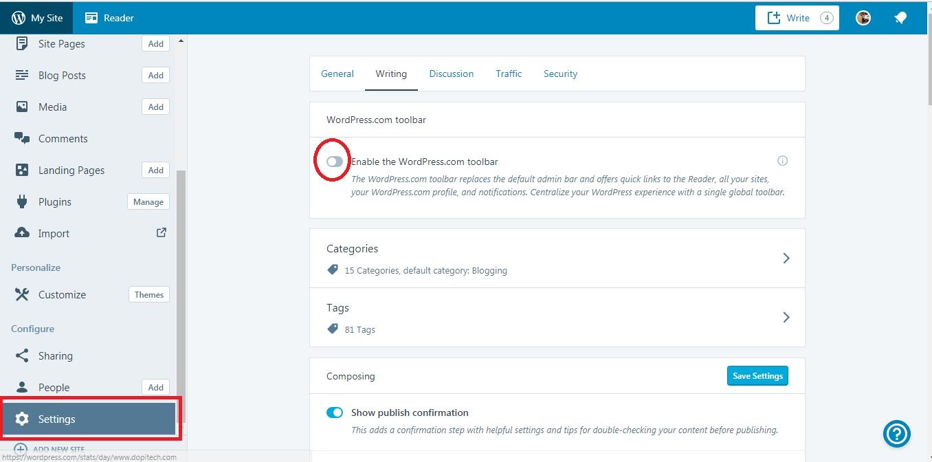 Network Admin bar on wordpress