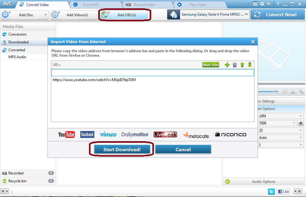 AVC online video downloader