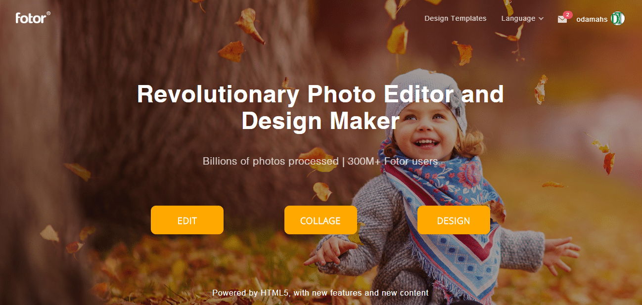 Fotor online photo editor