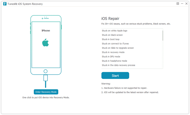 Tuneskit iOS repair software 01