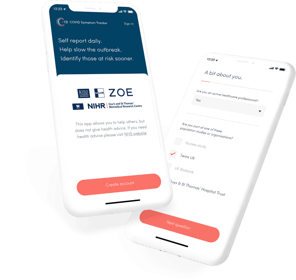 COVID Symptom Study app