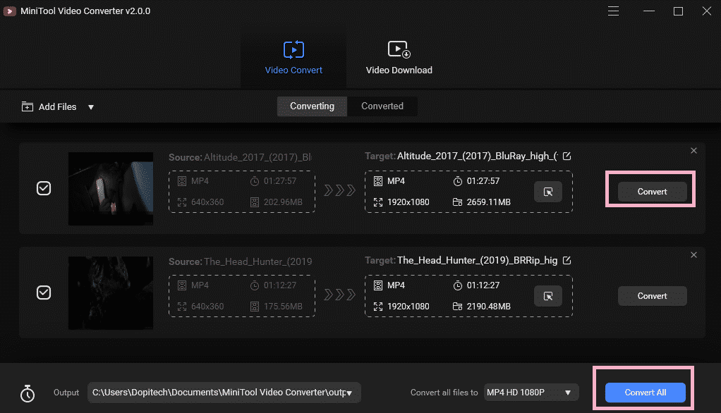 Minitool Free Video Converter