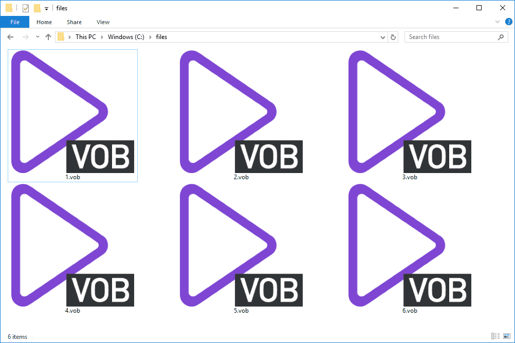 Play VOB Files on Windows