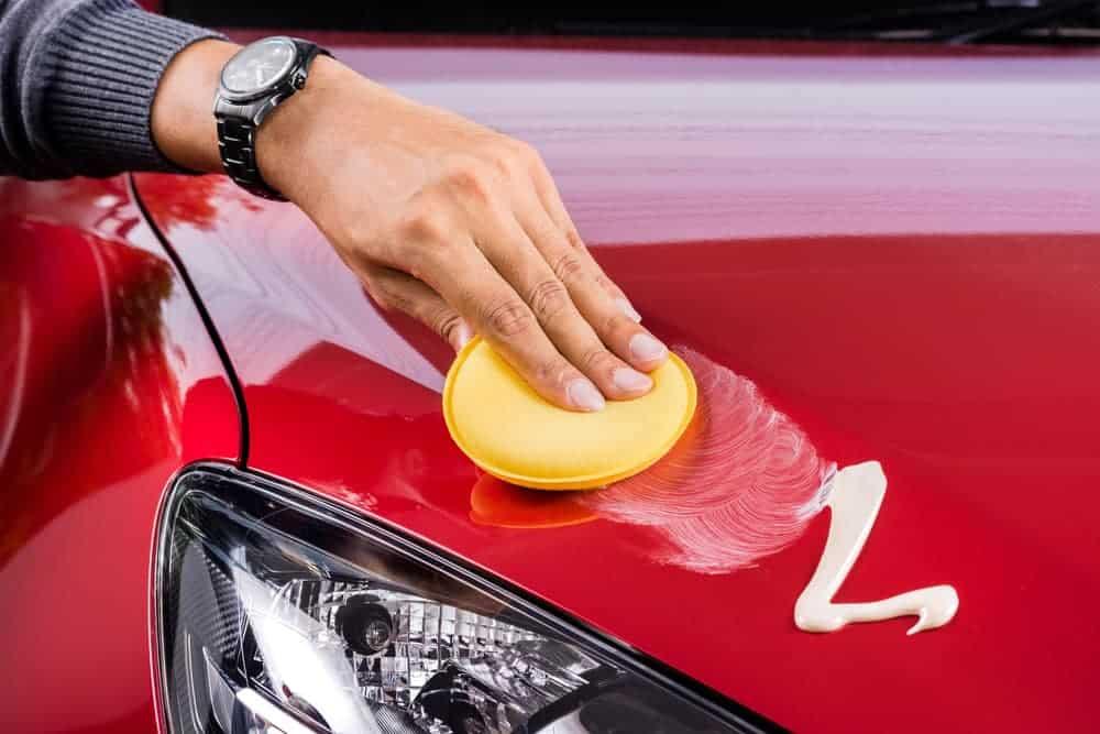 easy way to apply car wax